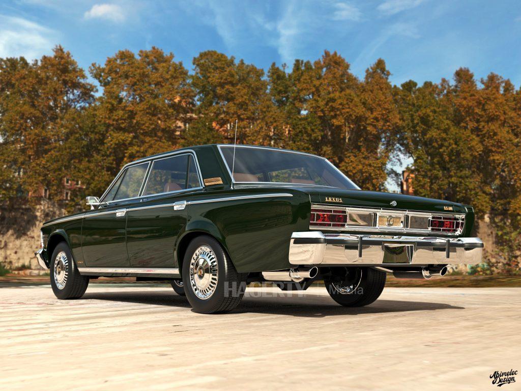 What If 1973 Lexus LS400 rear three-quarter