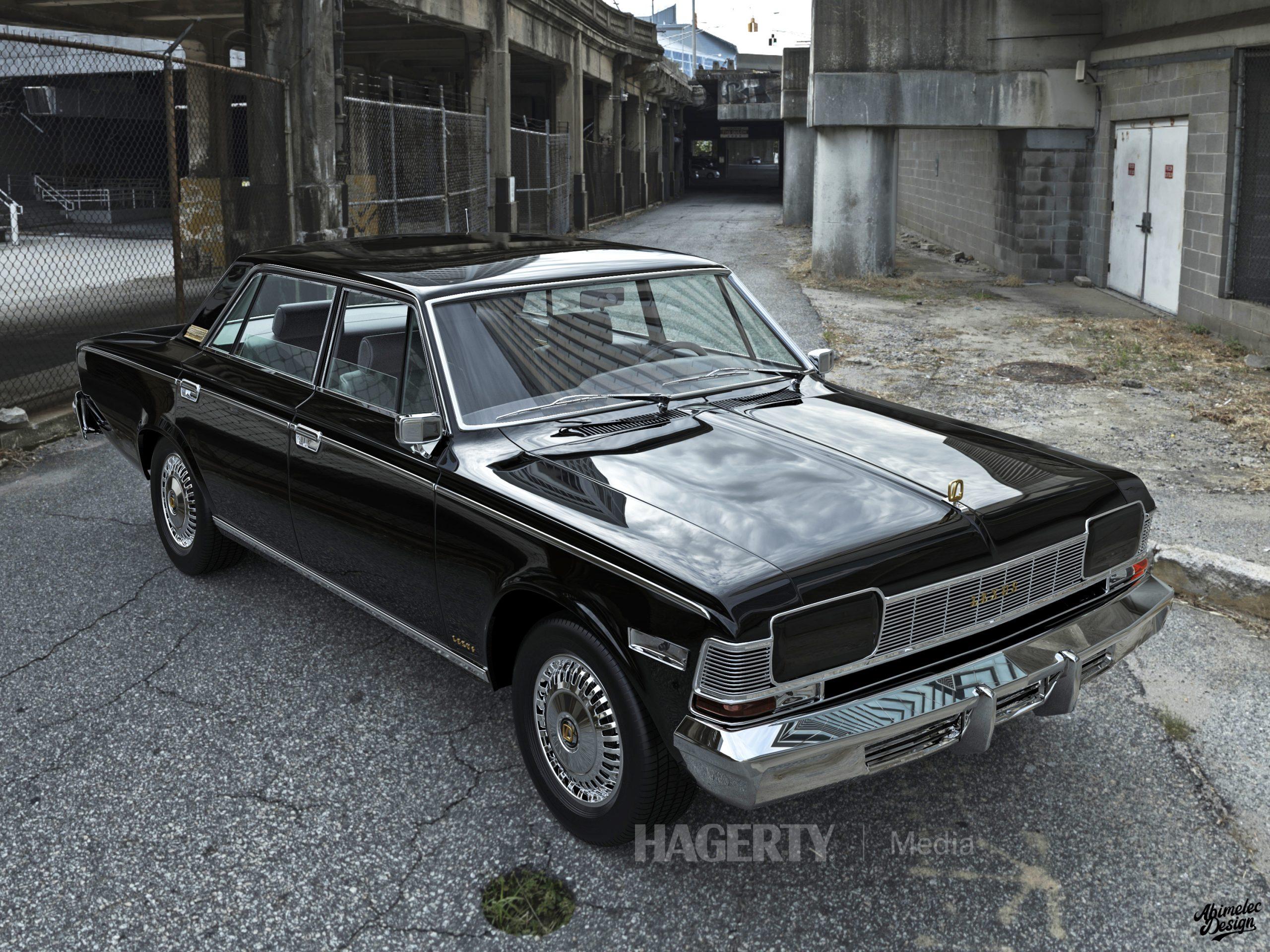 What If 1973 Lexus LS400 black