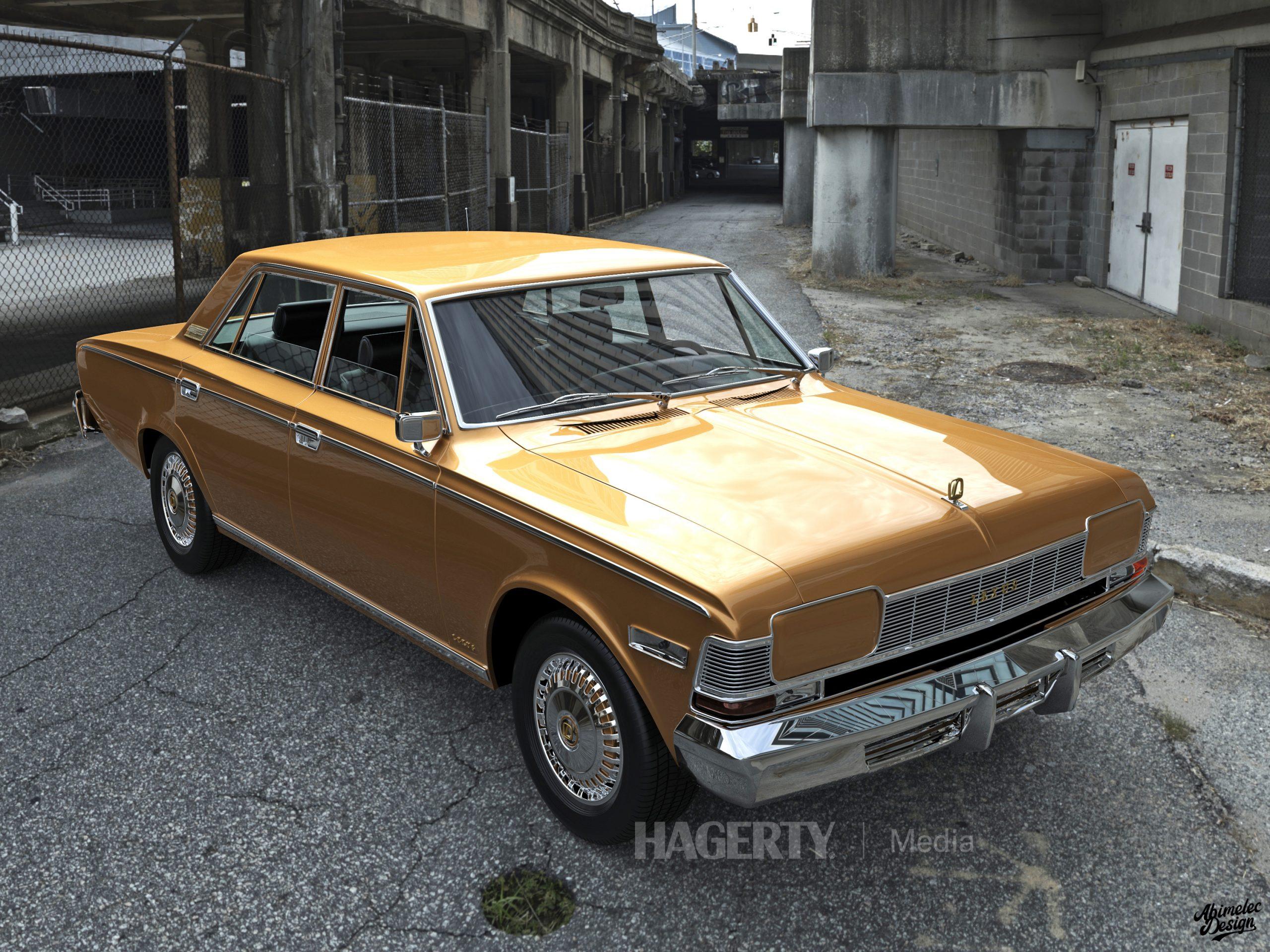 What If 1973 Lexus LS400 yellow