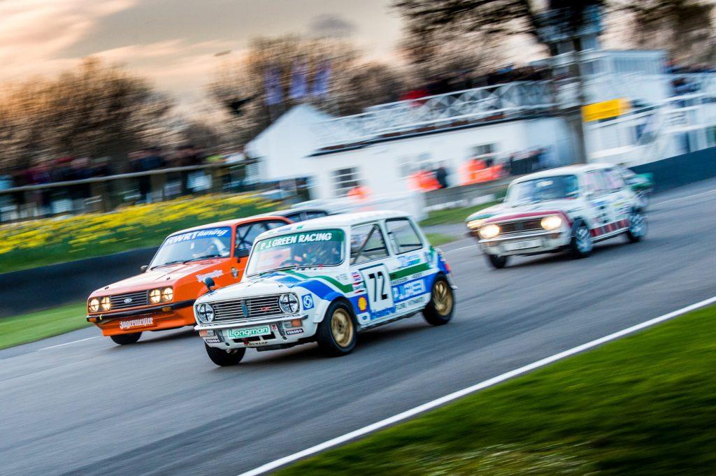Goodwood vintage racing on track