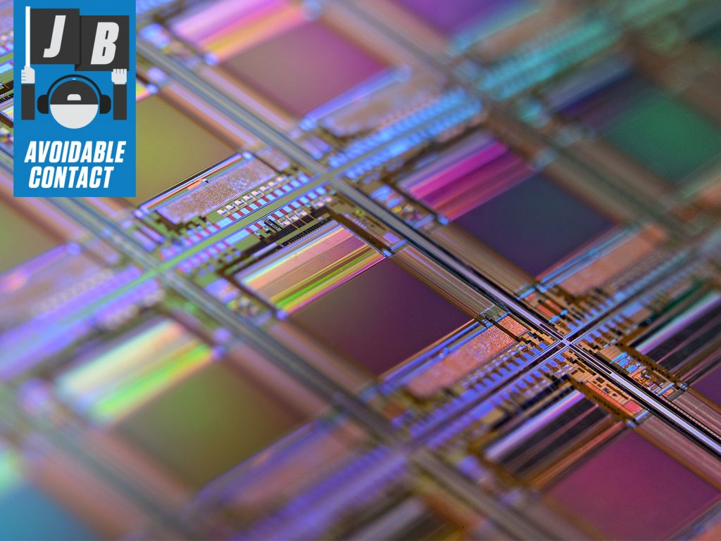 silicon wafer macro transistors chips circuits detail close