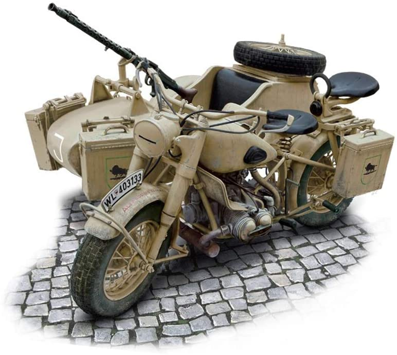 BMW R75 motorcycle and sidecar