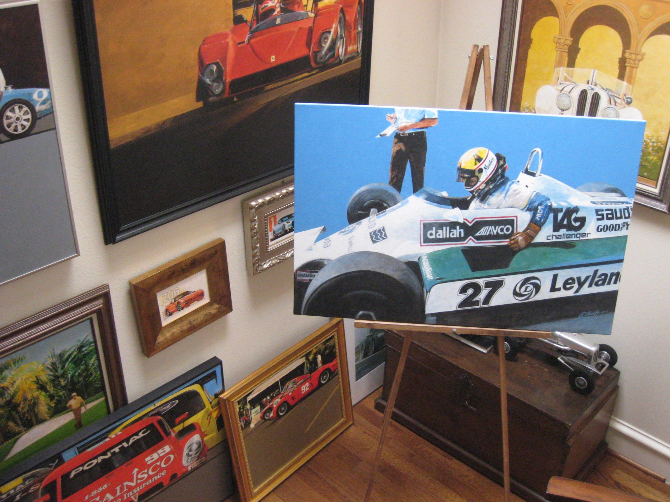 Bill Neale automotive art