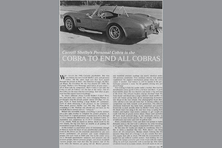 CSX 3015 Shelby Cobra article