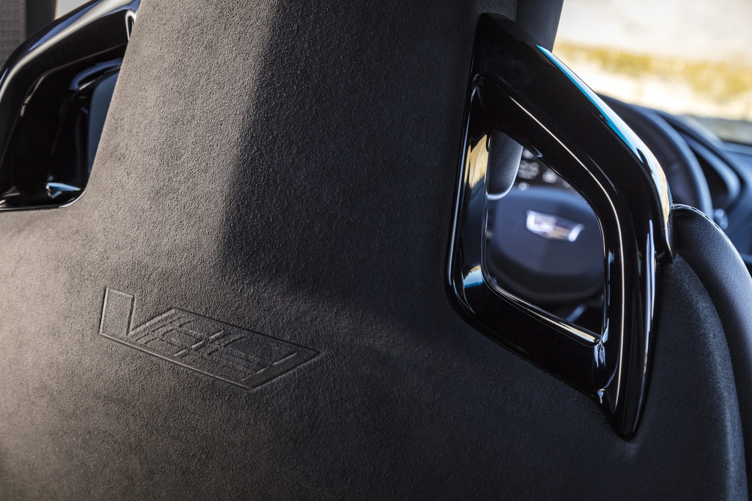 2022 Cadillac CT4-V Blackwing seat back logo