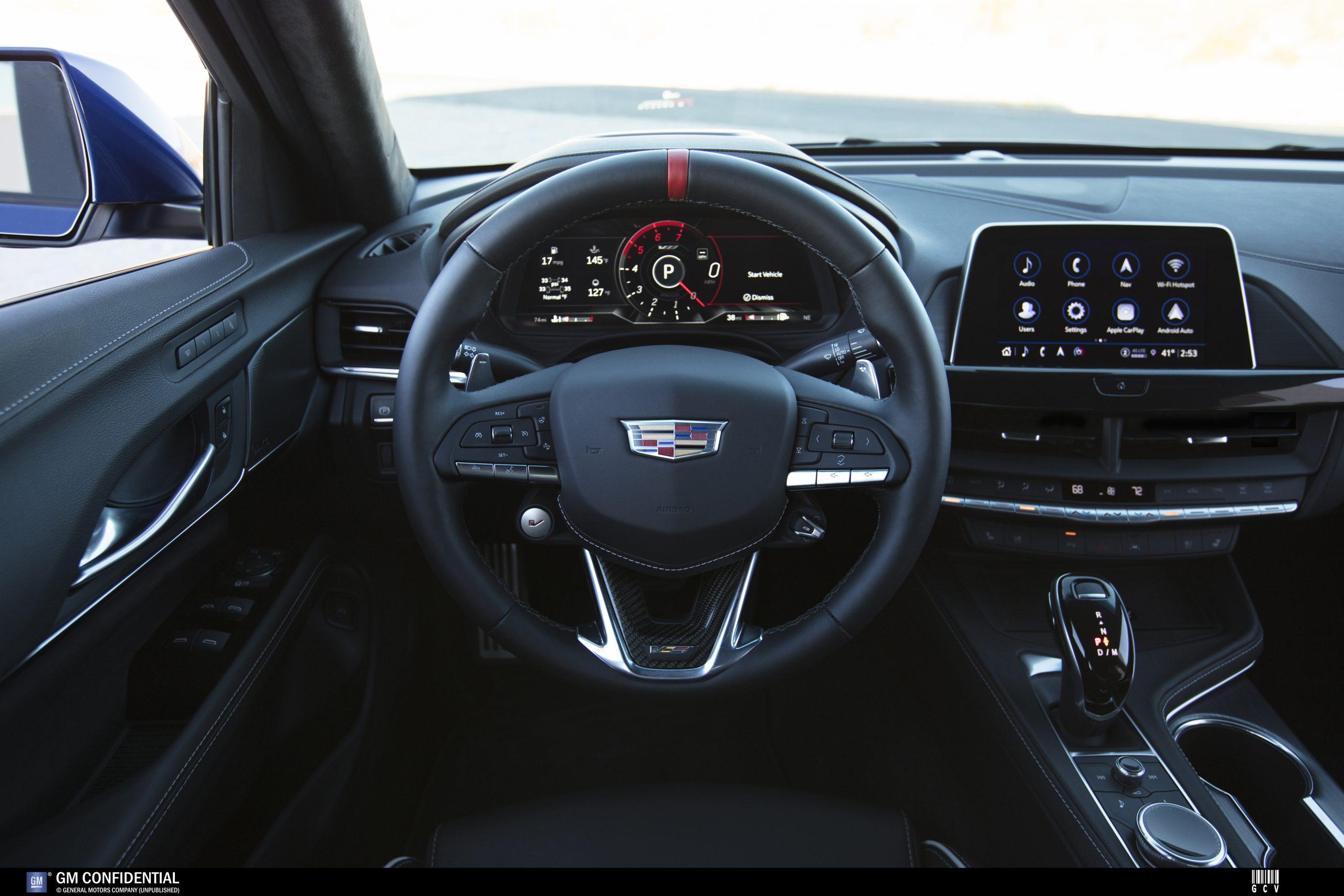 2022 Cadillac CT4-V Blackwing interior