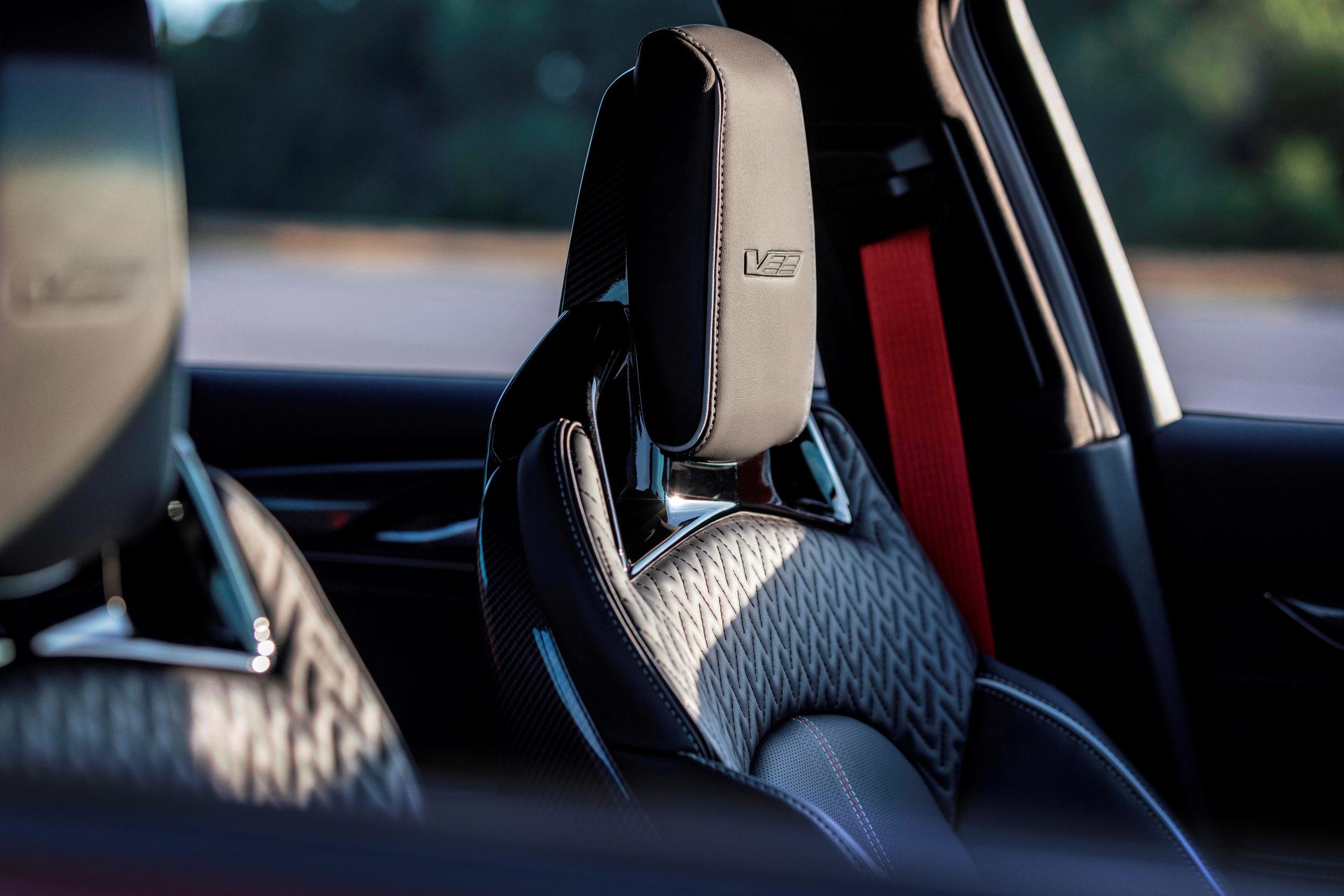 2022 Cadillac CT5-V Blackwing interior carbon fiber seat back