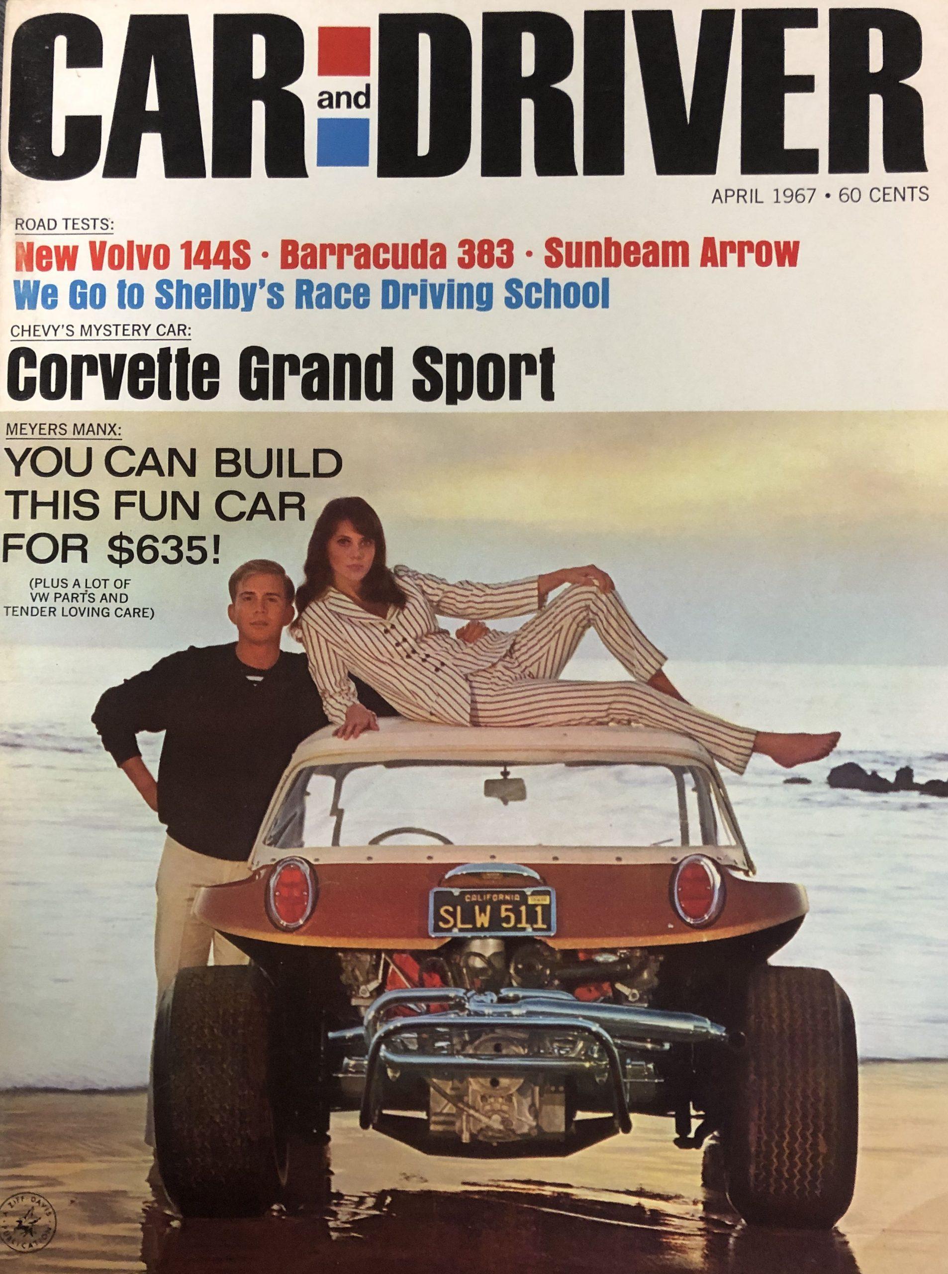 Meyers Manx Fiberglass Dune Buggy Car and Driver Magazine Cover