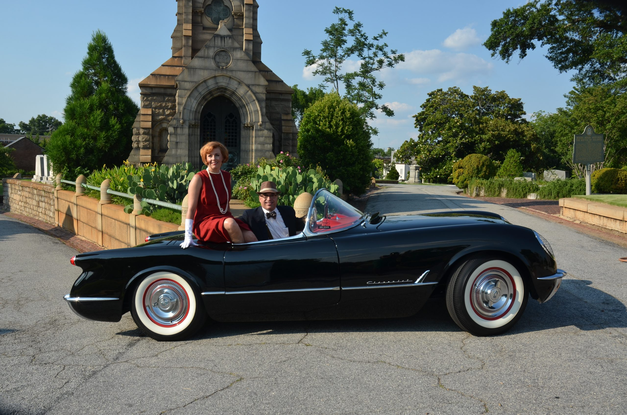 1954 Chevrolet Corvette side profile and owners
