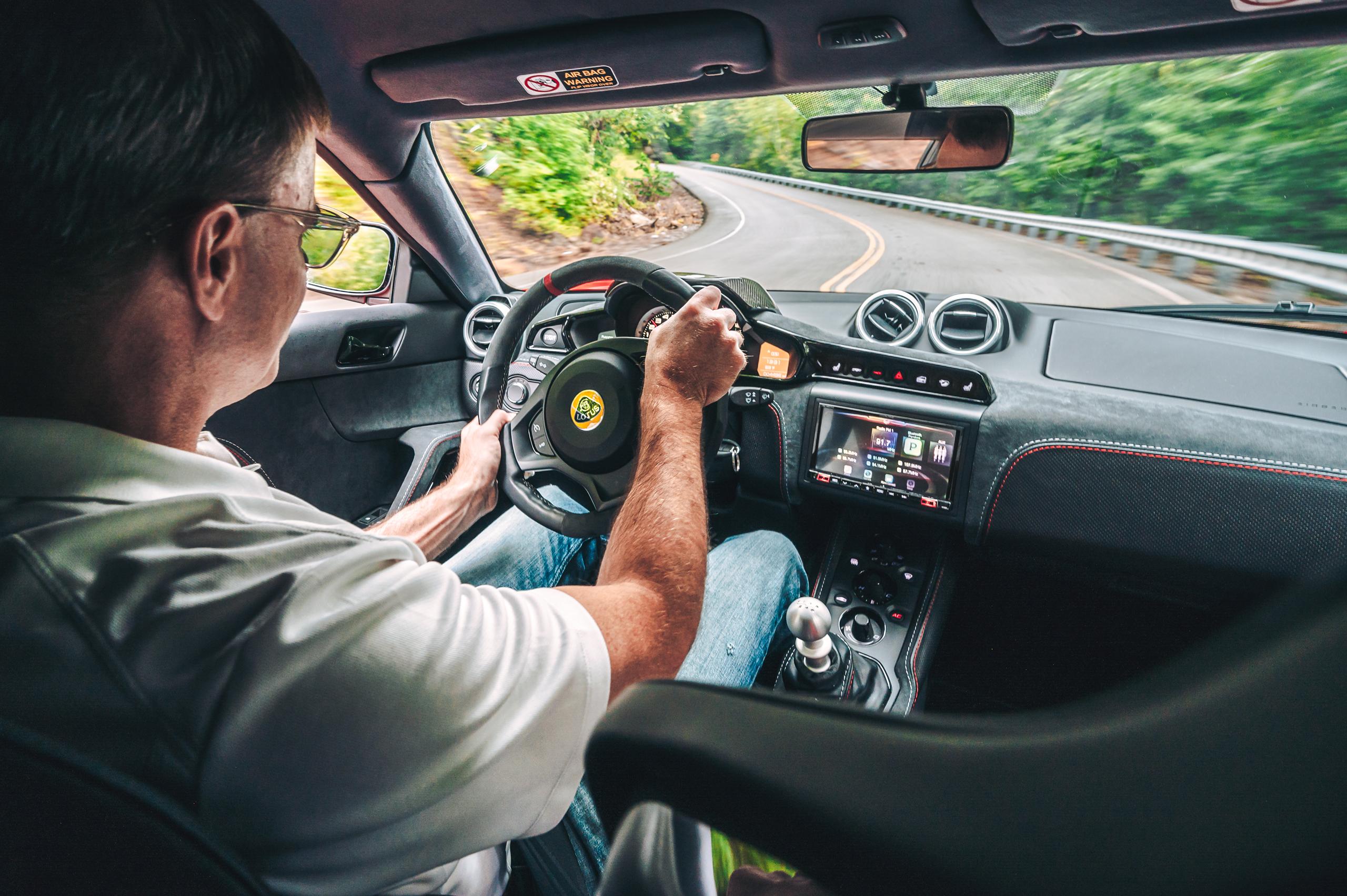 Lotus Evora GT Larry Webster Driving