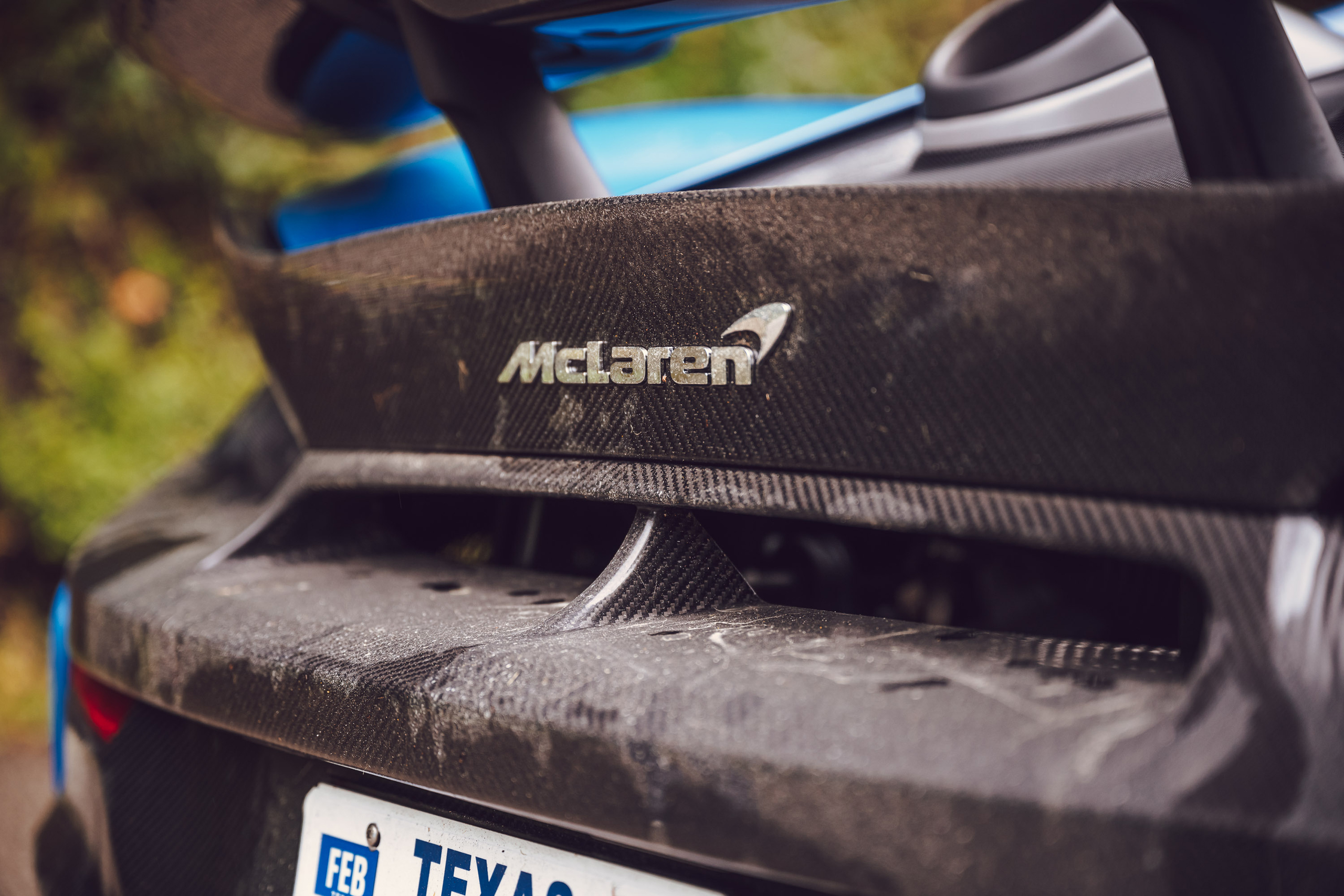 McLaren 675LT rear carbon fiber mud