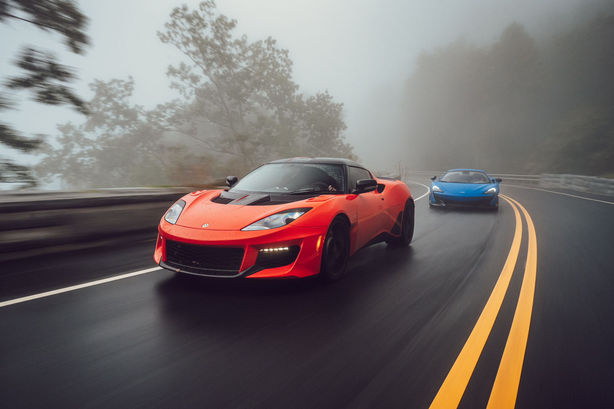 2020 Lotus Evora GT and McLaren 675LT