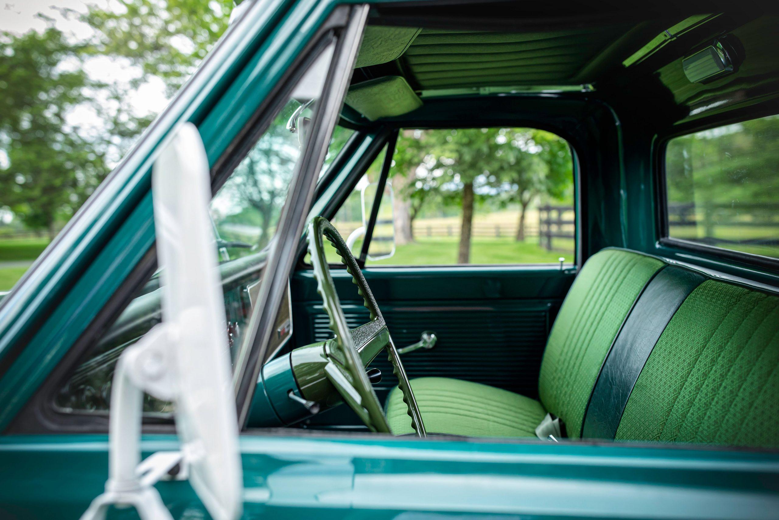 Elvis Presley Owned 1967 GMC Pickup interior side profile