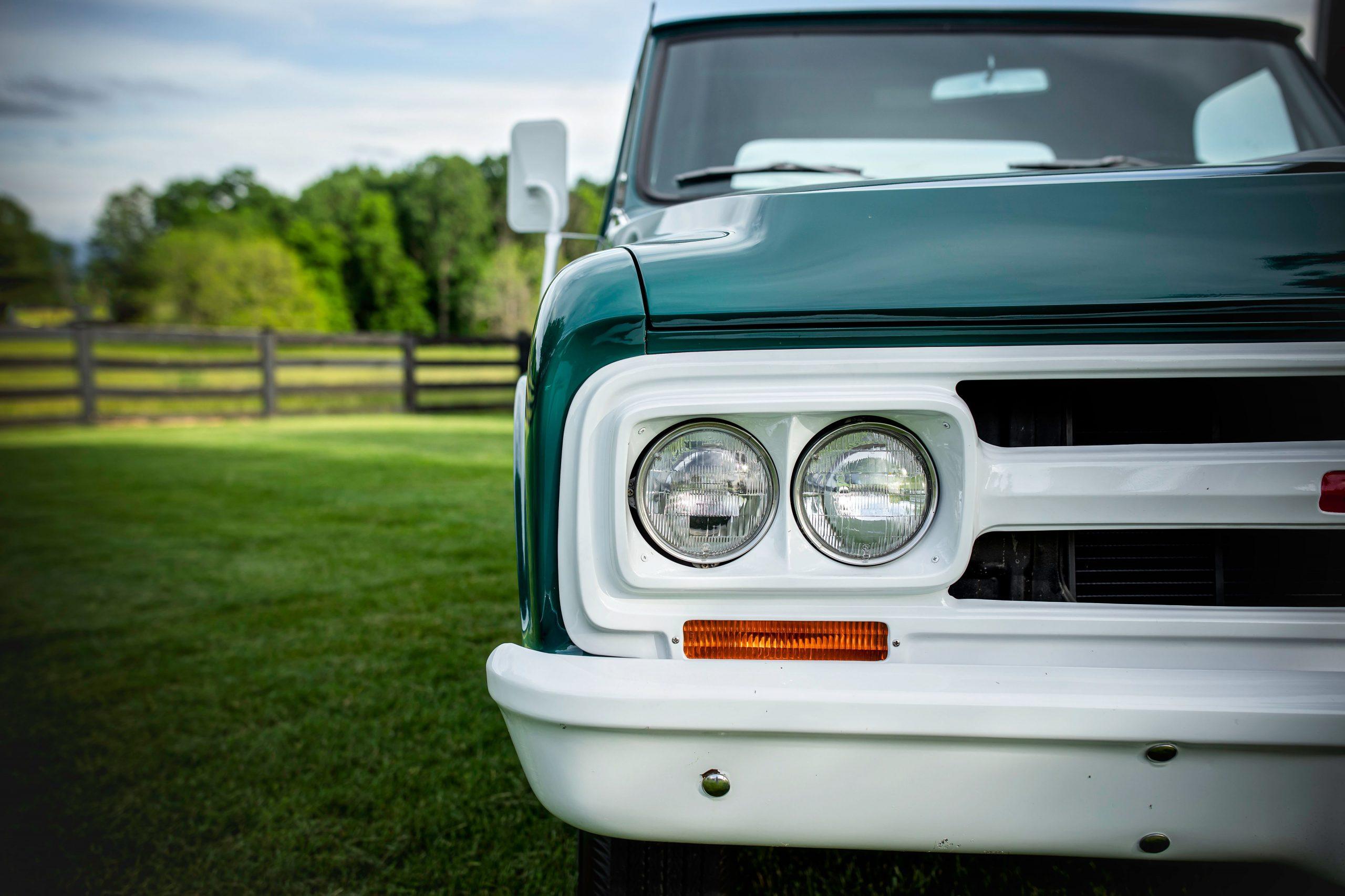Elvis Presley Owned 1967 GMC Pickup headlight detail