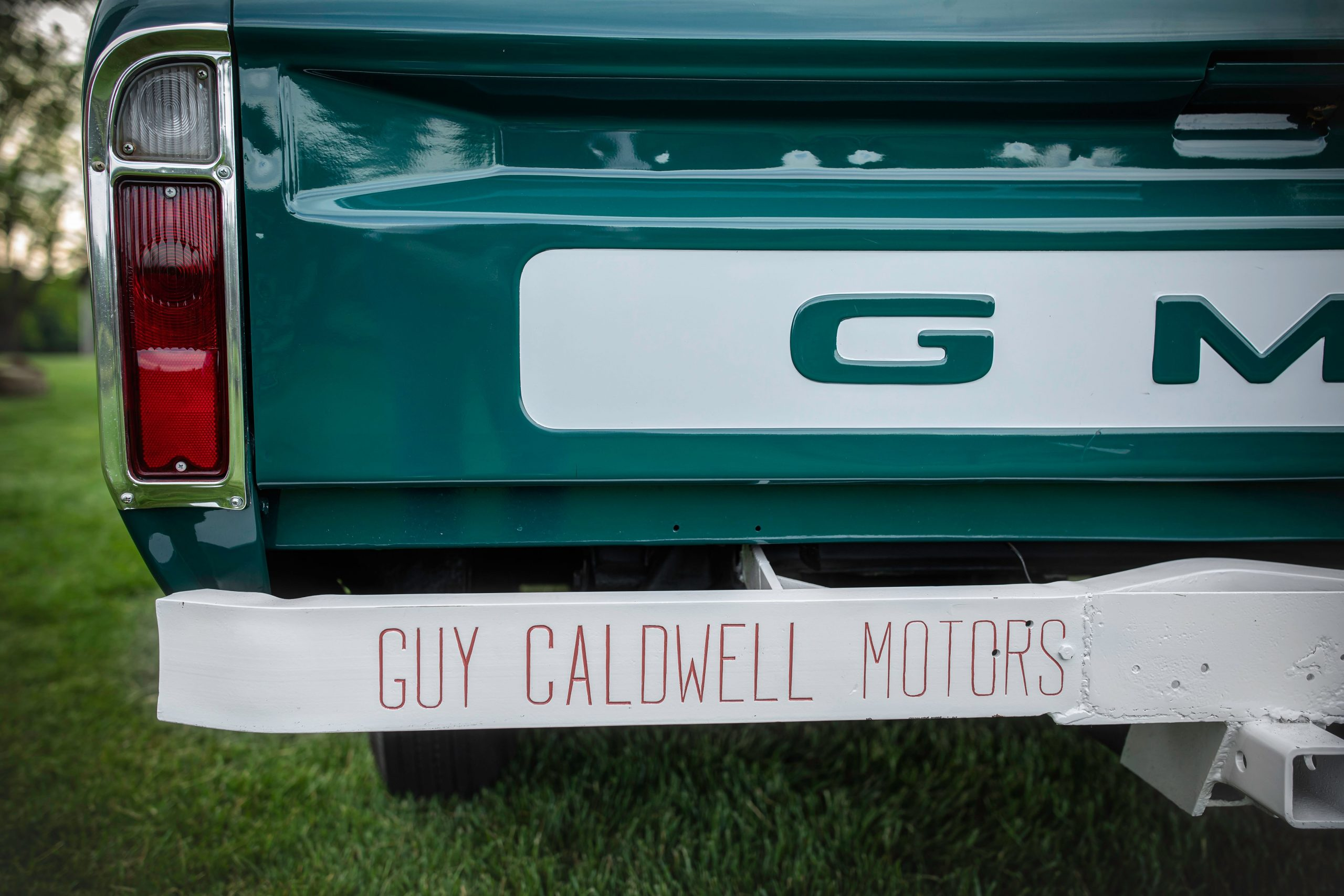 Elvis Presley Owned 1967 GMC Pickup rear dealer detail