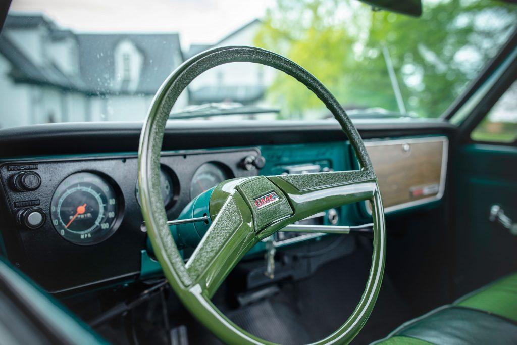 Elvis Presley Owned 1967 GMC Pickup interior steering wheel detail