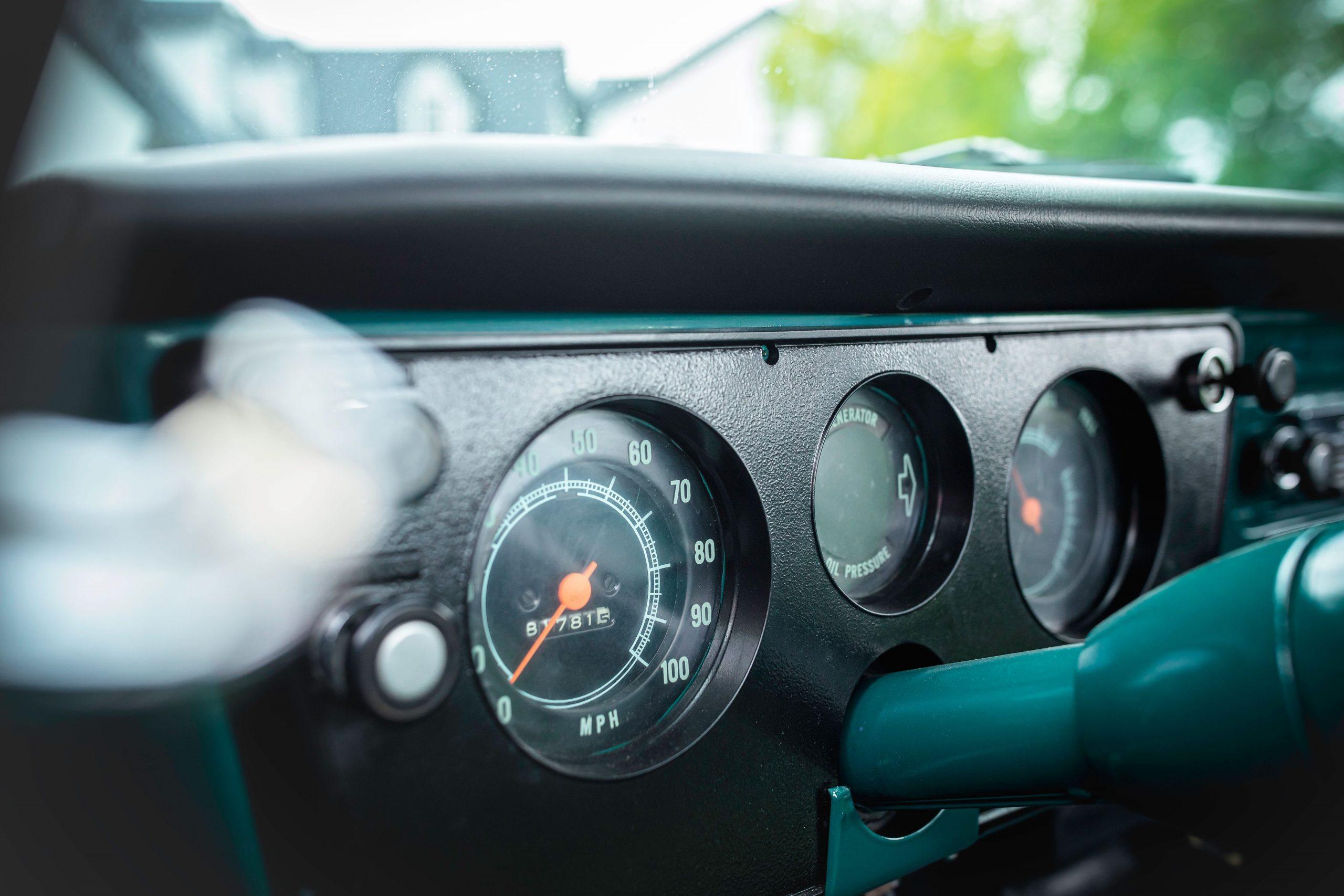 Elvis Presley Owned 1967 GMC Pickup interior dash gauges