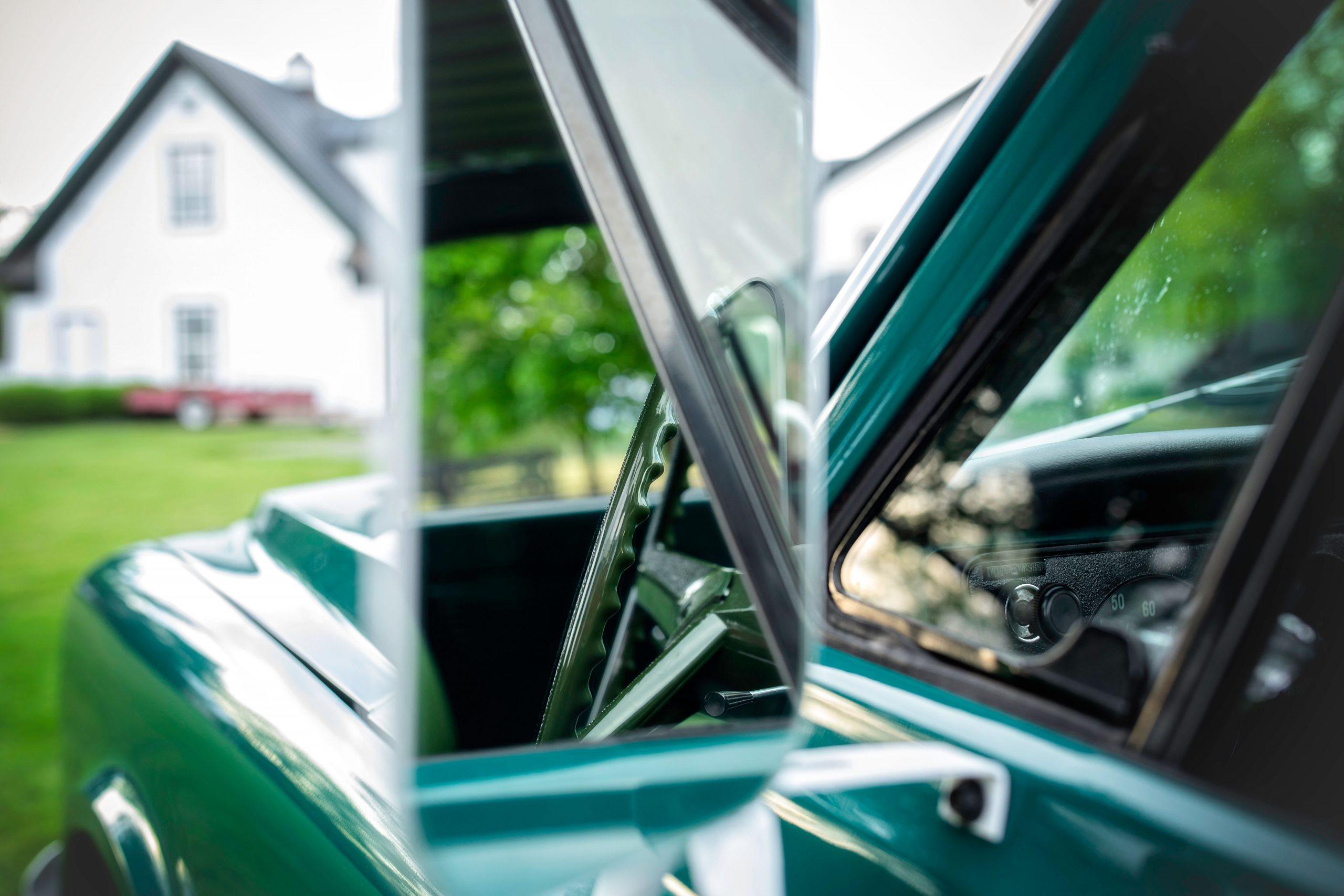Elvis Presley Owned 1967 GMC Pickup side mirror reflection