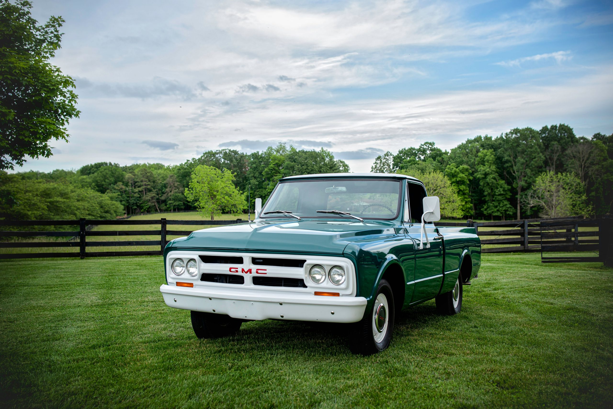 Elvis Presley Owned 1967 GMC Pickup front three-quarter
