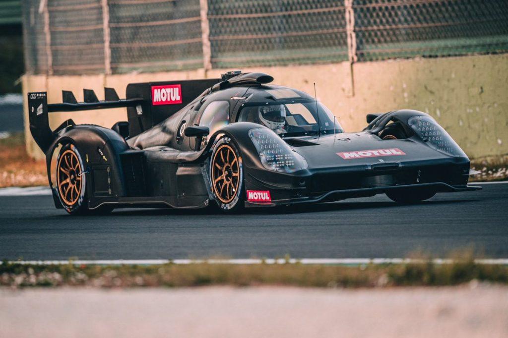 Glickenhaus 007 LMH Romain Dumas testing Vallelunga 2021 on track