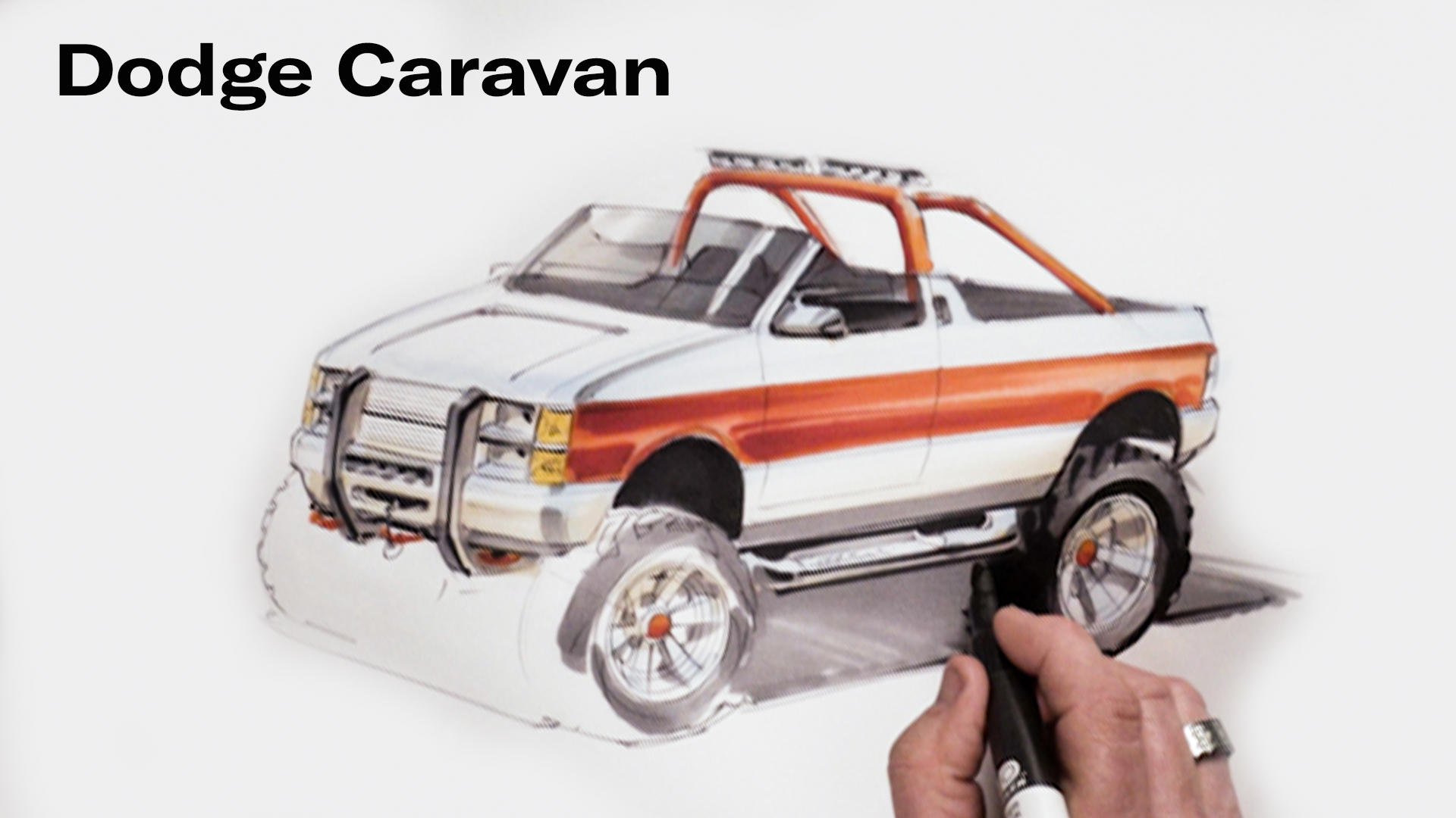 Chip Foose Draws a Dodge Caravan
