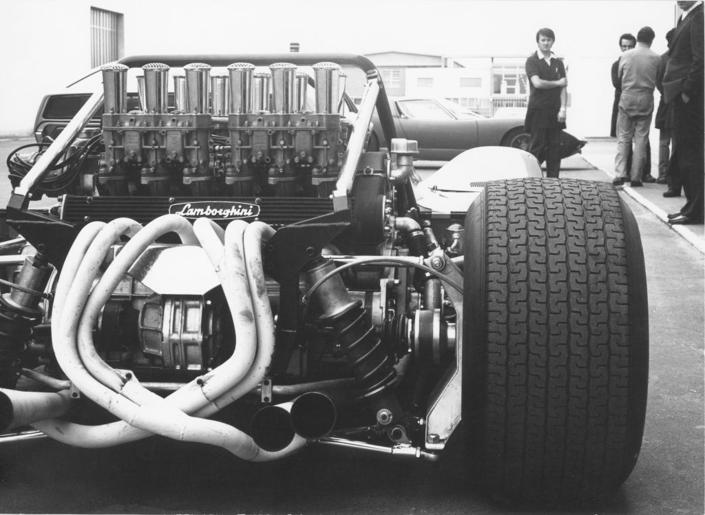 Ferruccio V12 Lamborghini Engine rear historical