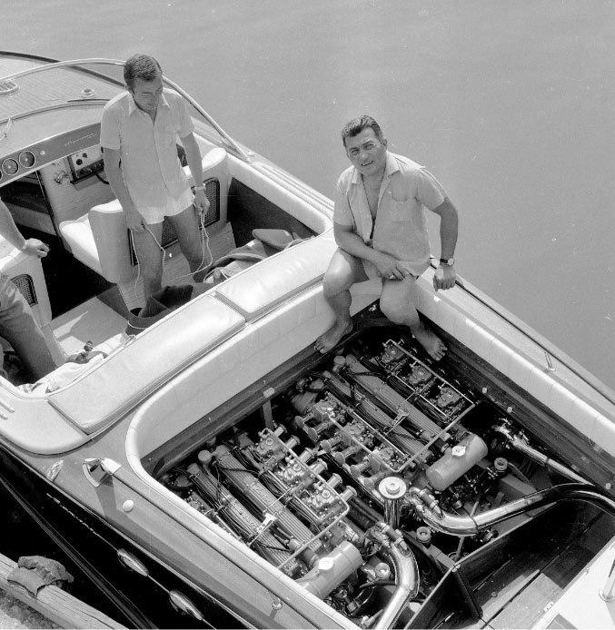 Ferruccio V12 Lamborghini Engine boat rear