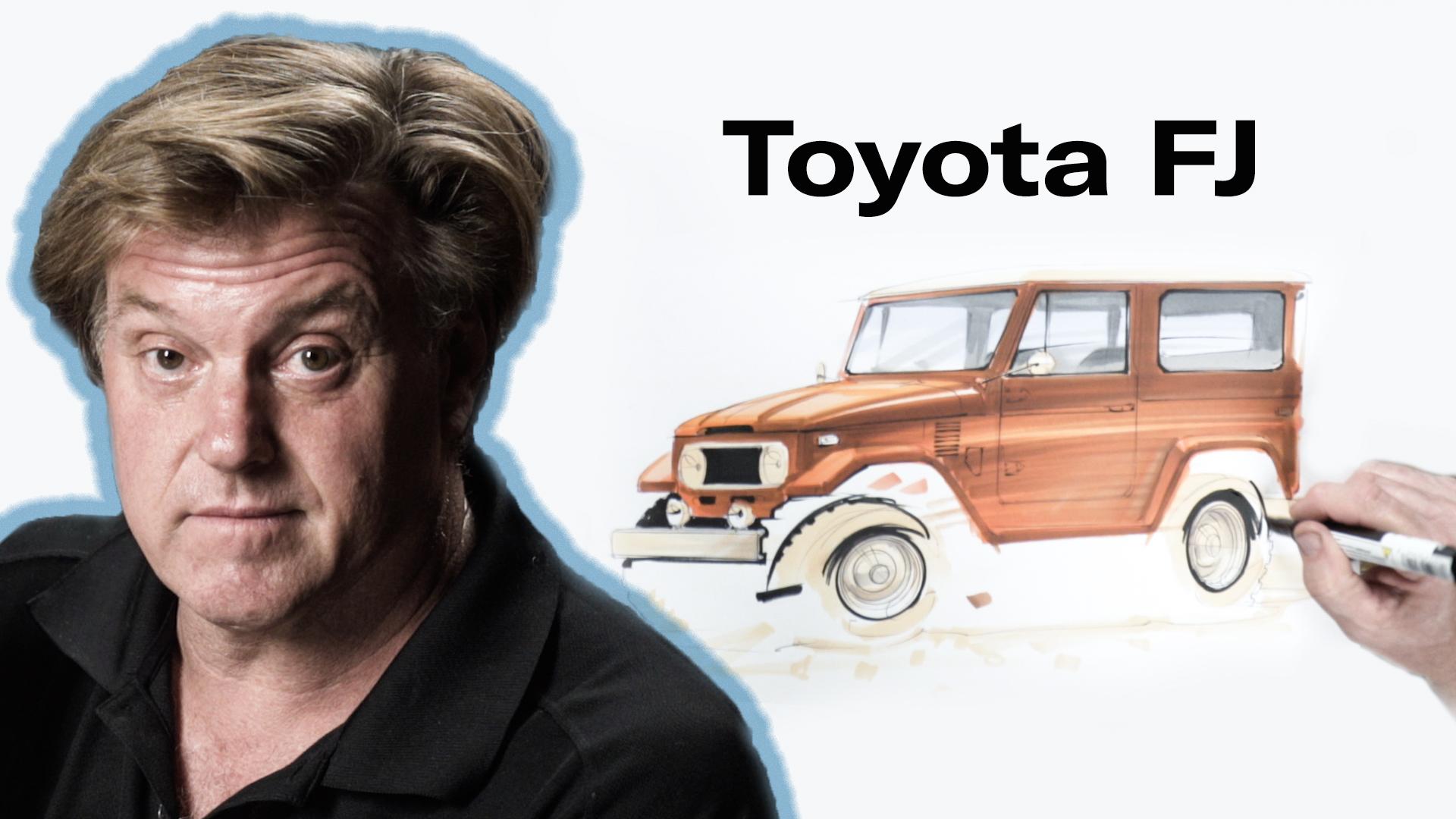 Chip Foose draws a Toyota FJ