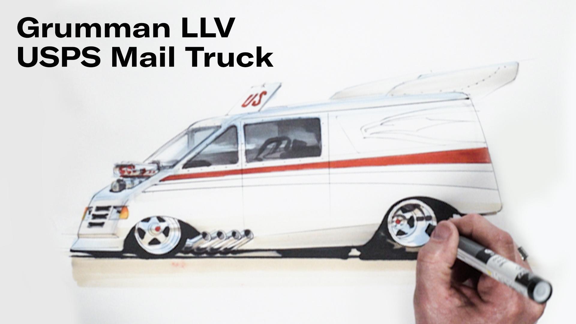 Chip Foose draws a USPS van