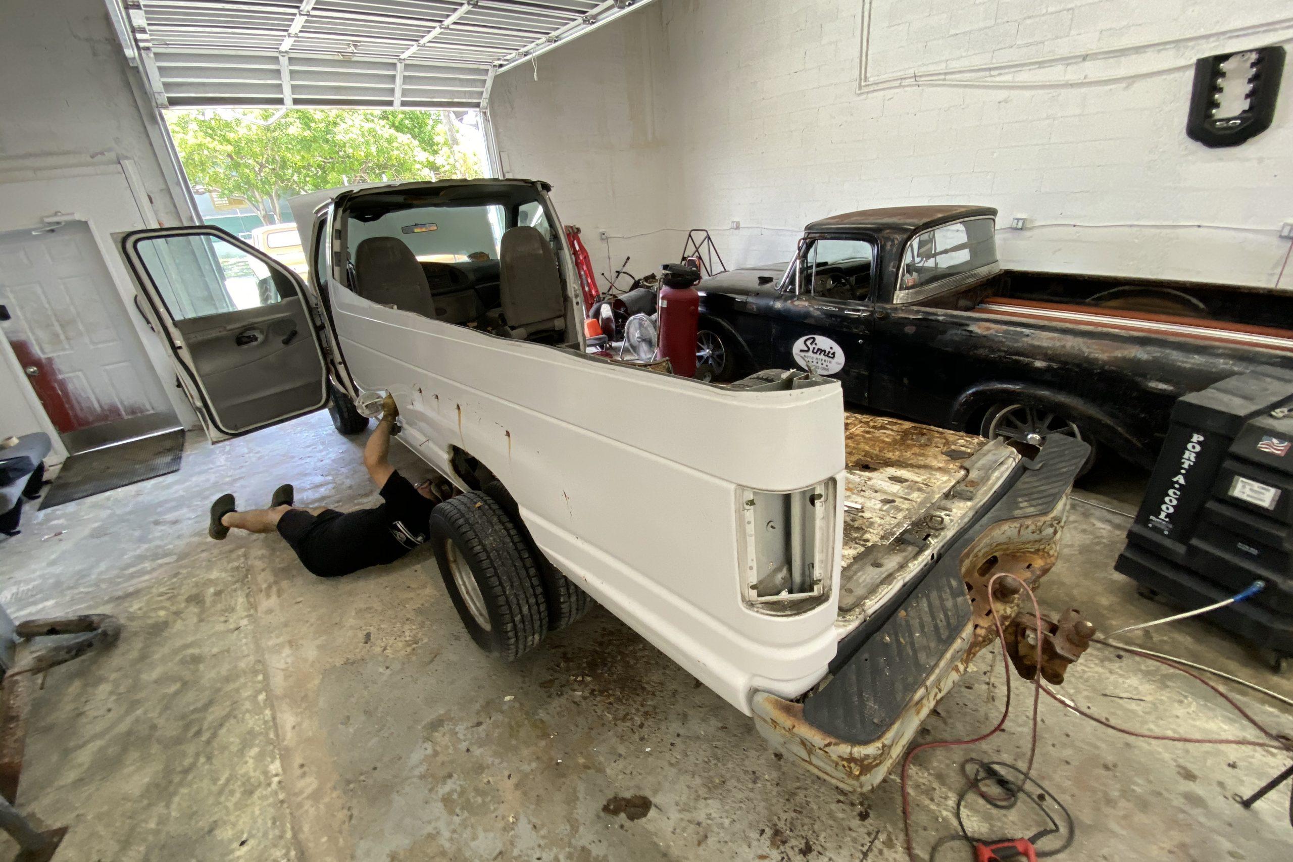 Ford Era Van scrapping body