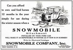 Ford Model T Snowmobile - ad