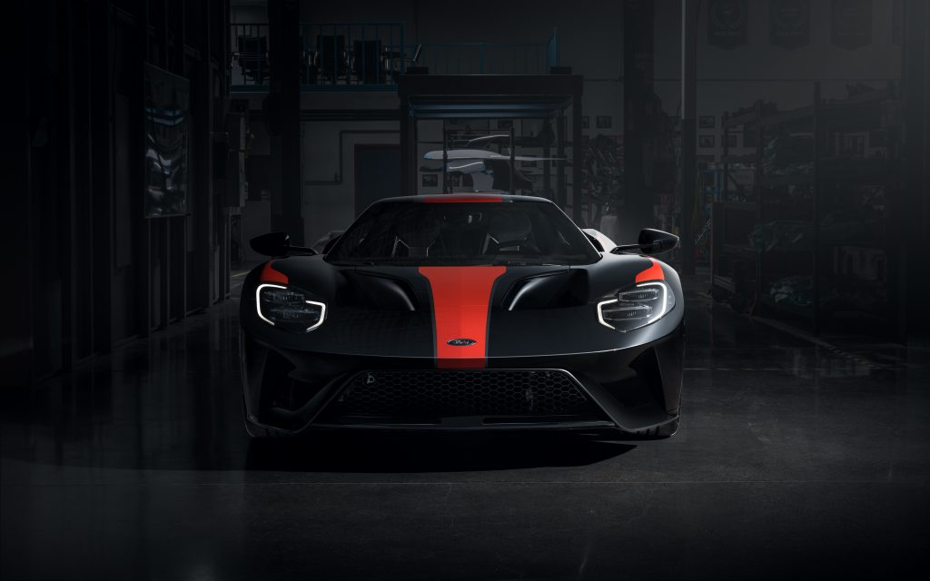 first 2021 Ford GT Studio Collection red and black front