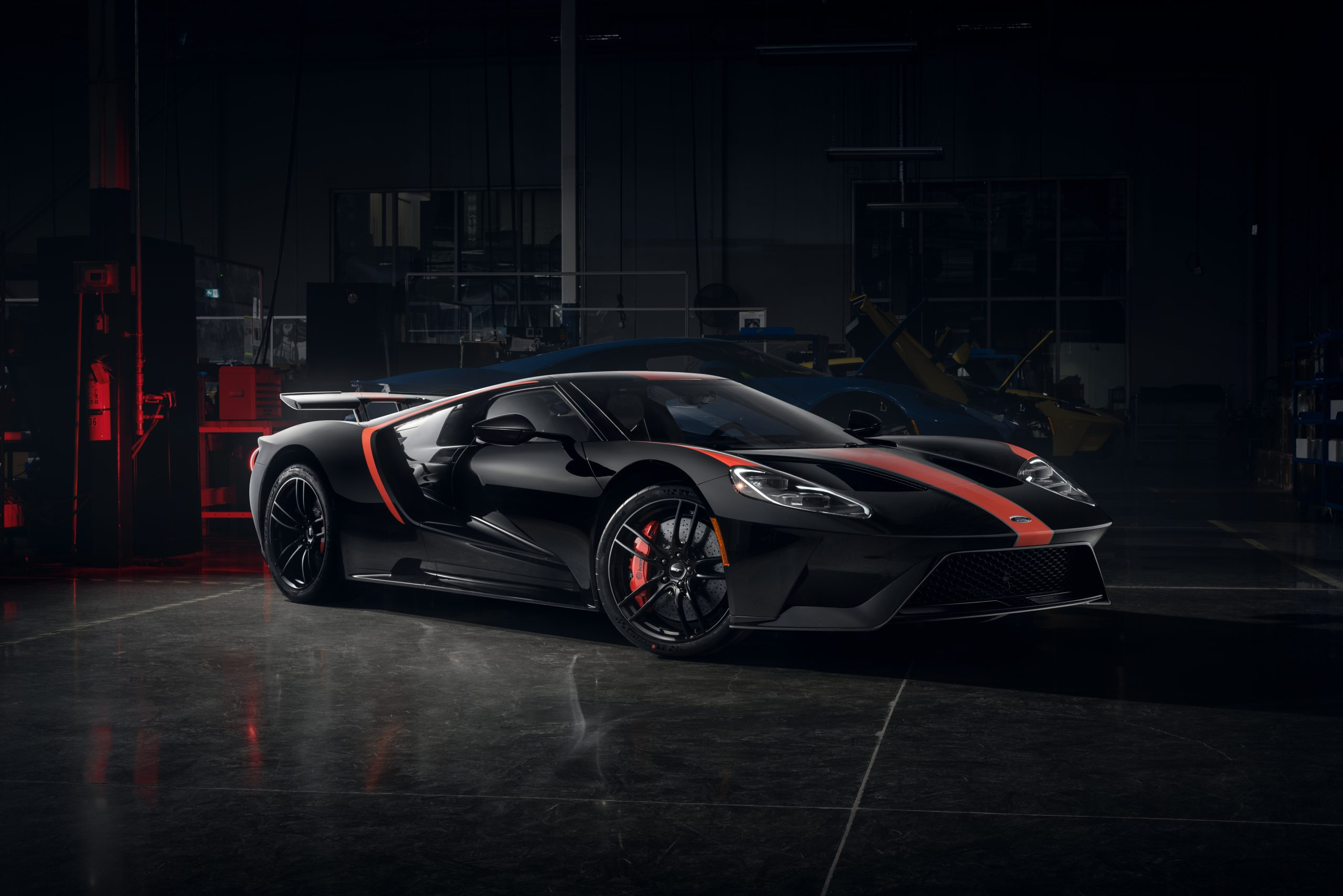 first 2021 Ford GT Studio Collection red and black