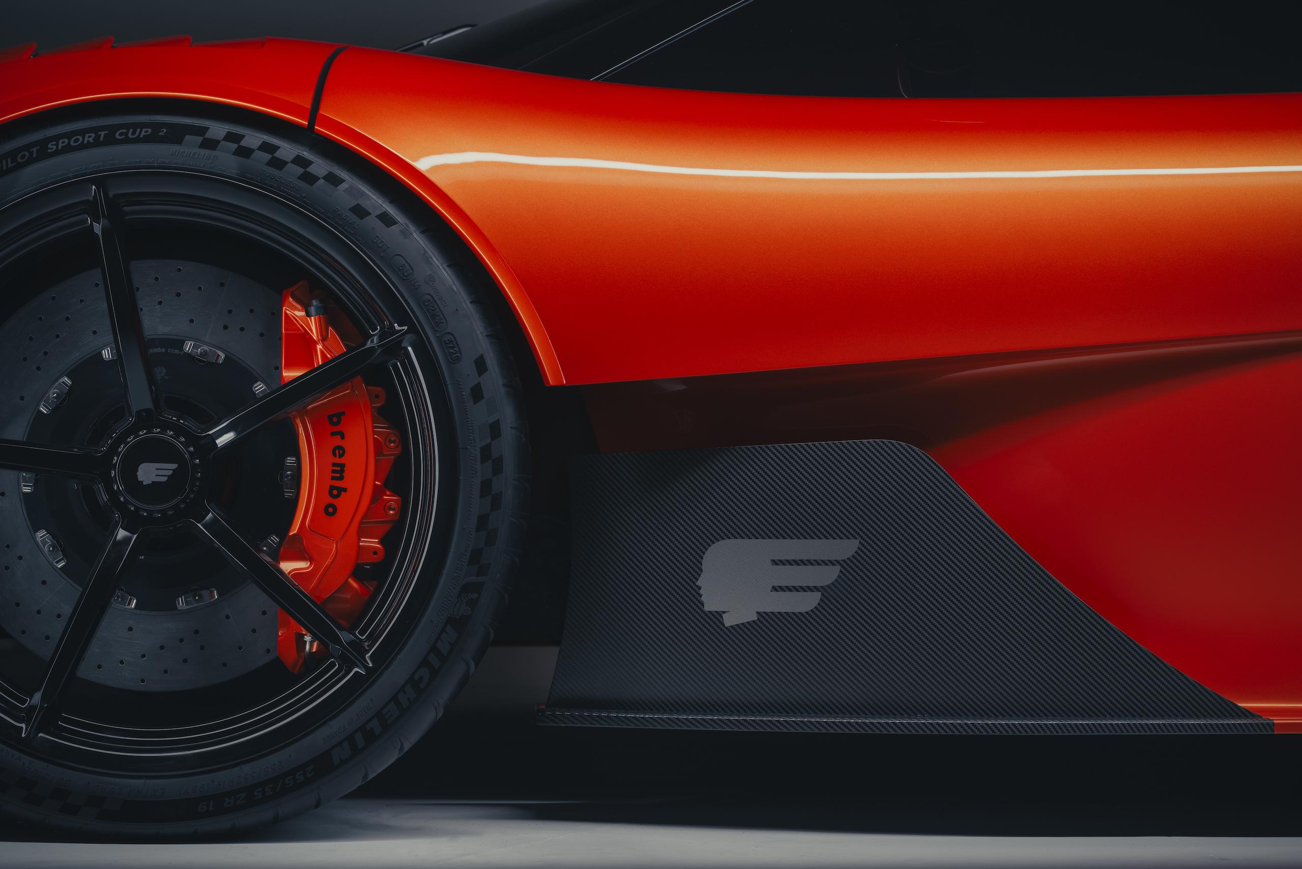 GMA T50s wheel body detail