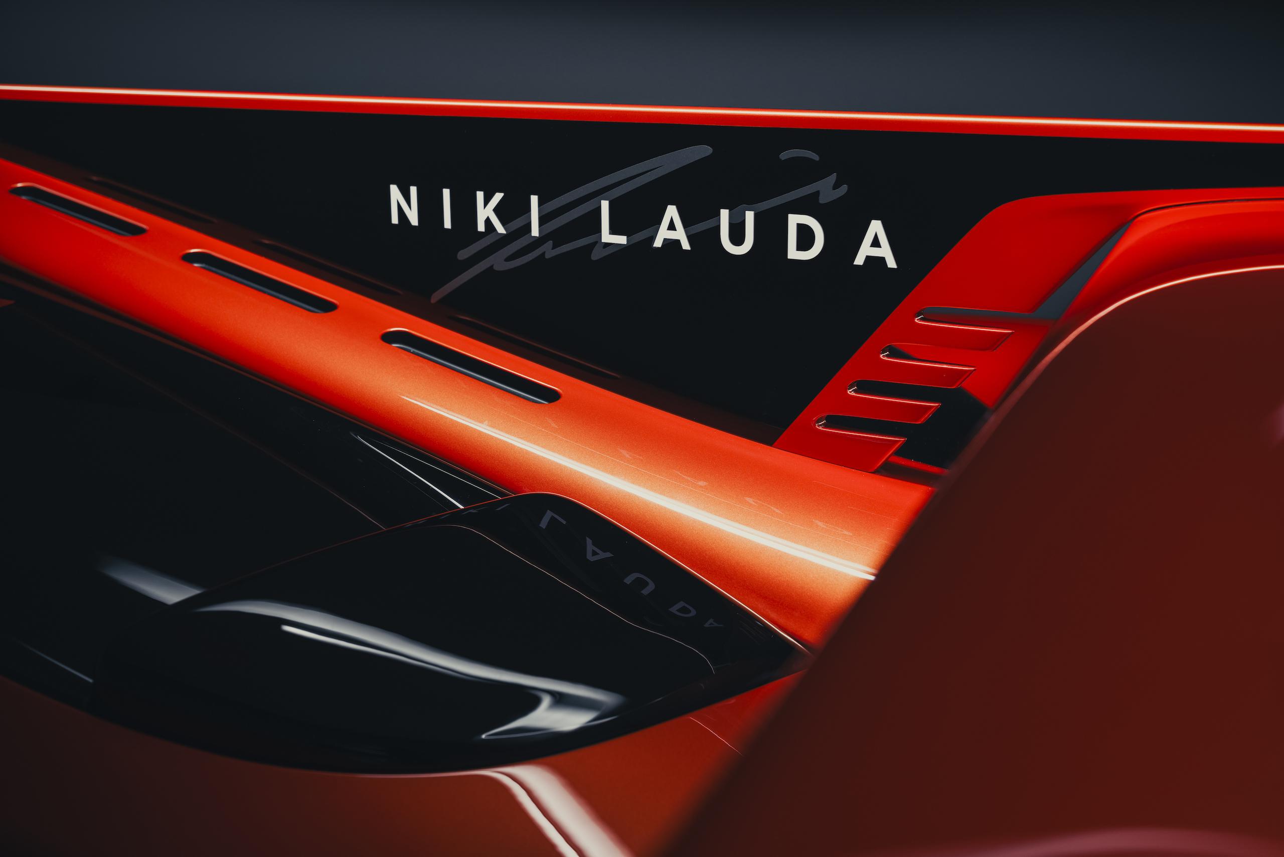 GMA T50s niki lauda lettering commemoration