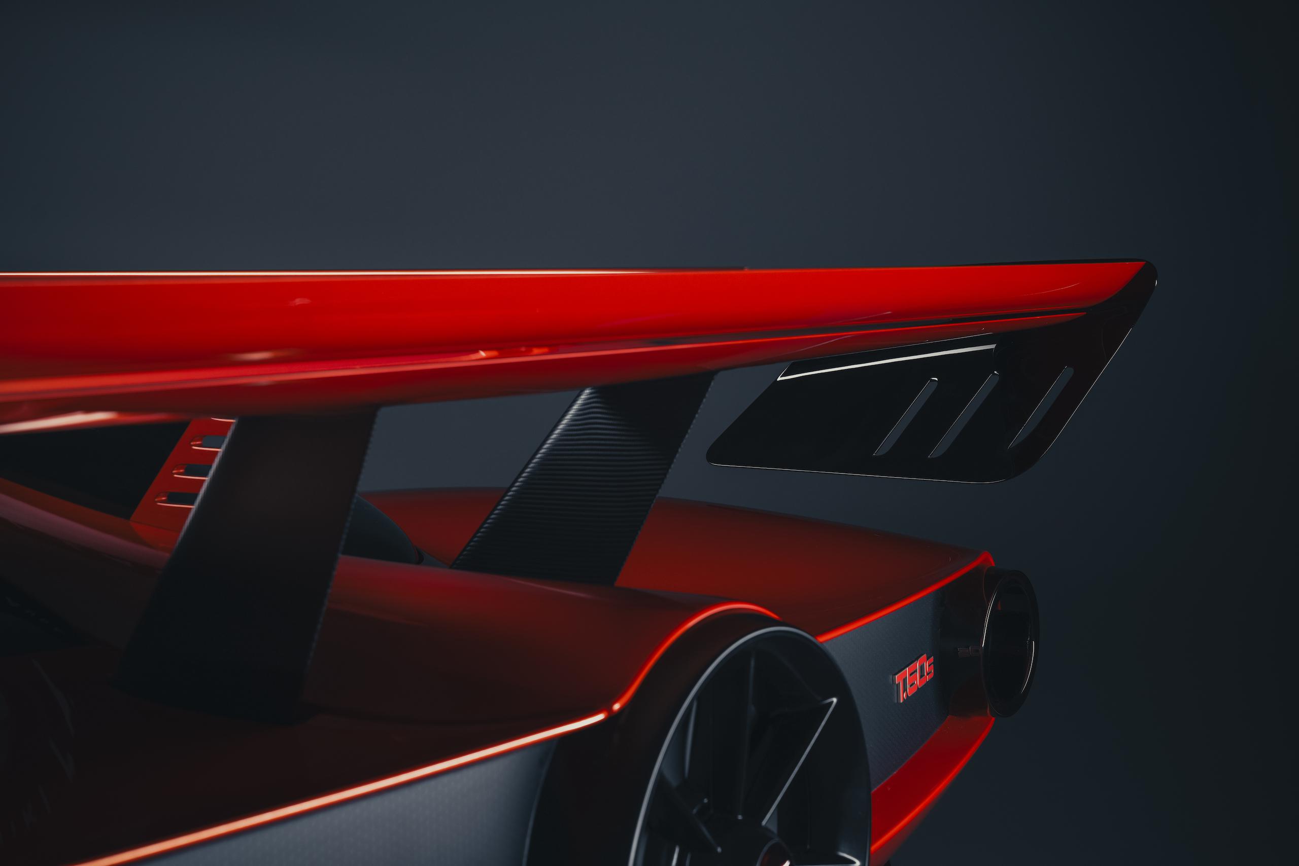 GMA T50s rear wing detail