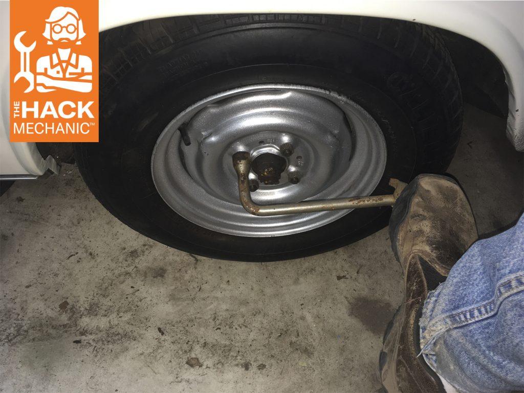 foot tire iron wheel lugs hack mechanic thumbnail