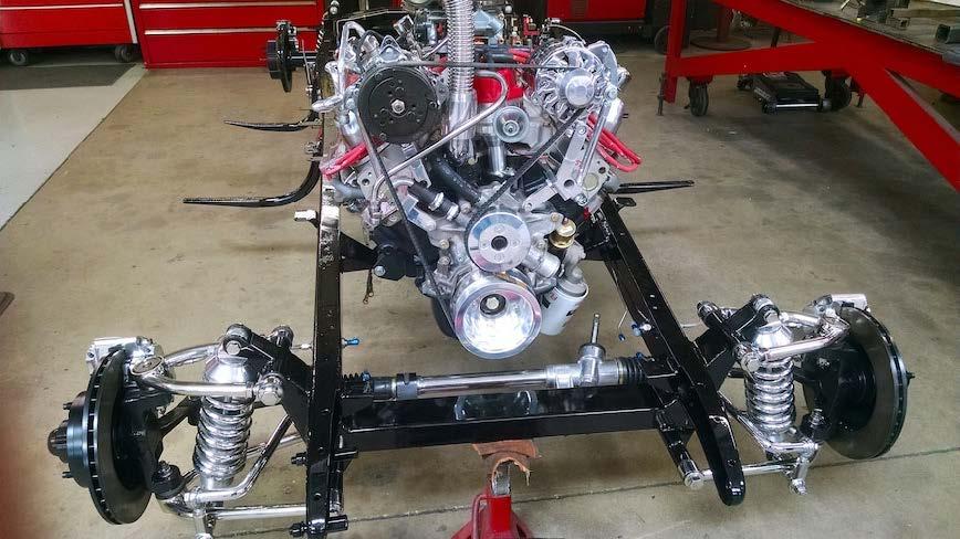 1931 Ford Tudor Model A hot rod frame engine