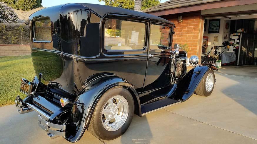 1931 Ford Tudor Model A hot rod rear passenger side