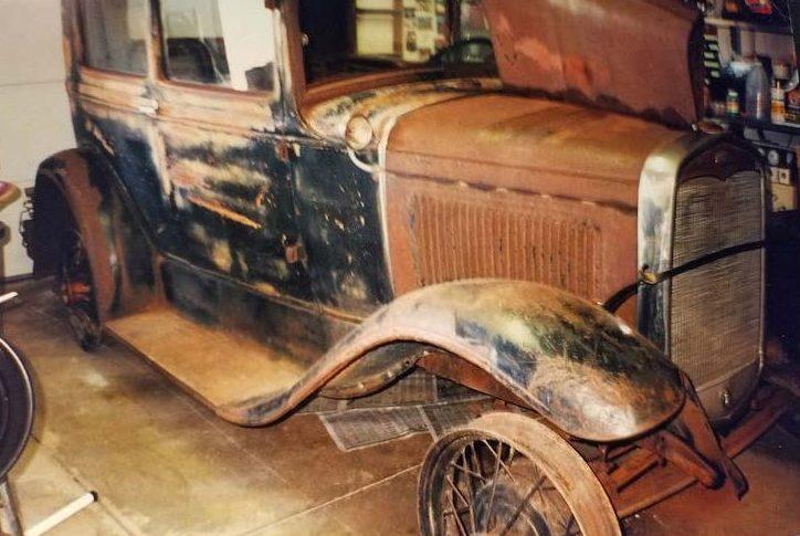 1931 Ford Tudor Model A hot rod rust before