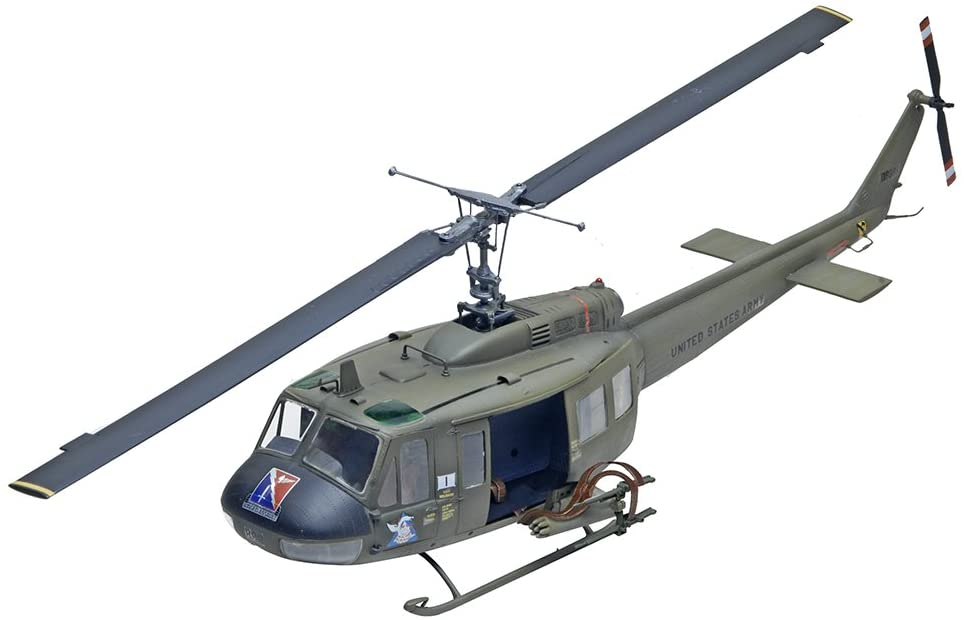 Huey Gunship Helicopter scale model front three-quarter