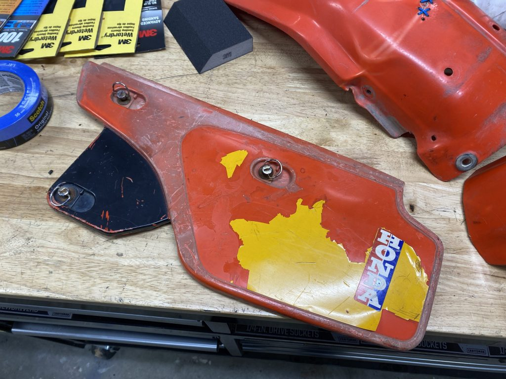 XR250 airbox cover before