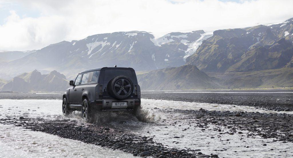 2022 Land Rover Defender rear three quarter