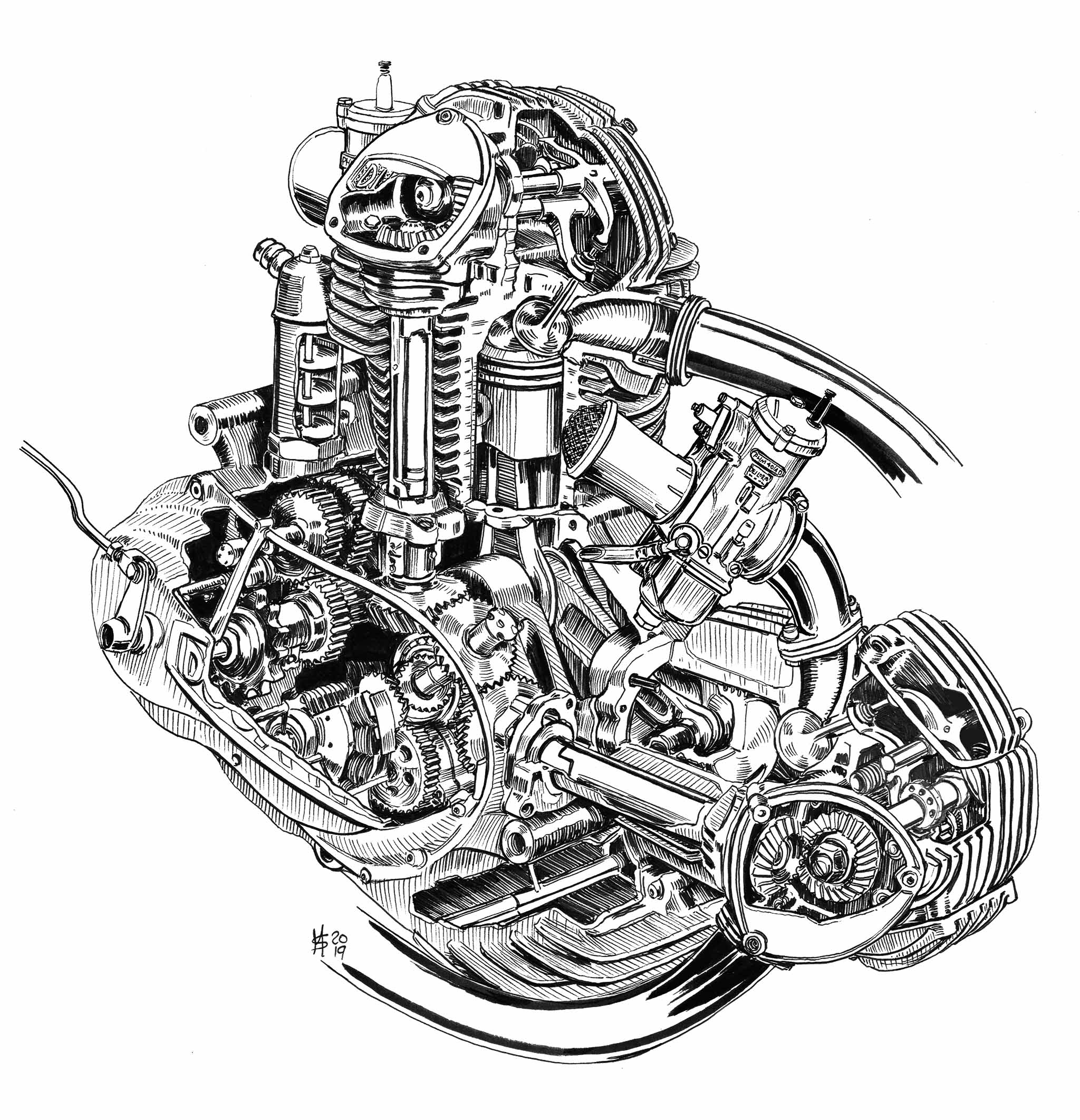 Stock Stories 750SS Engine