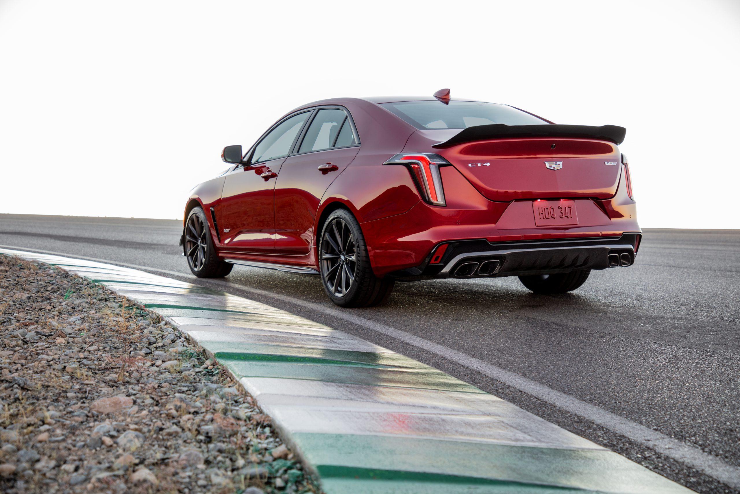 2022 Cadillac CT4-V Blackwing rear three quarter