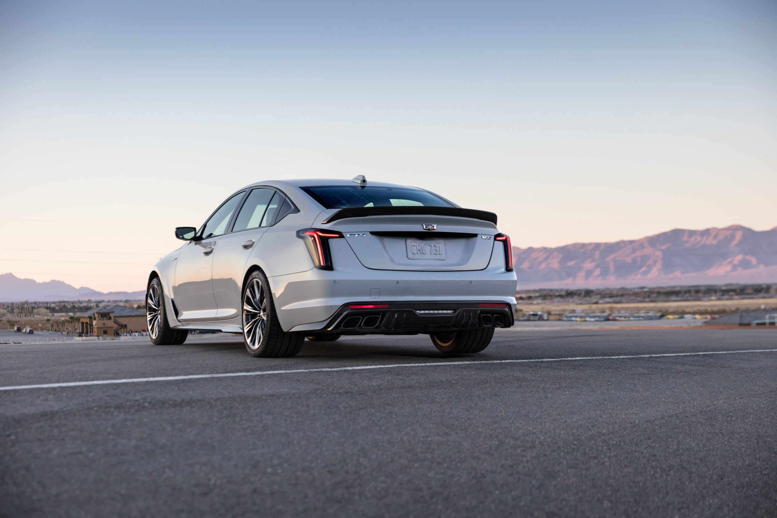 2022 Cadillac CT5-V Blackwing rear three quarter