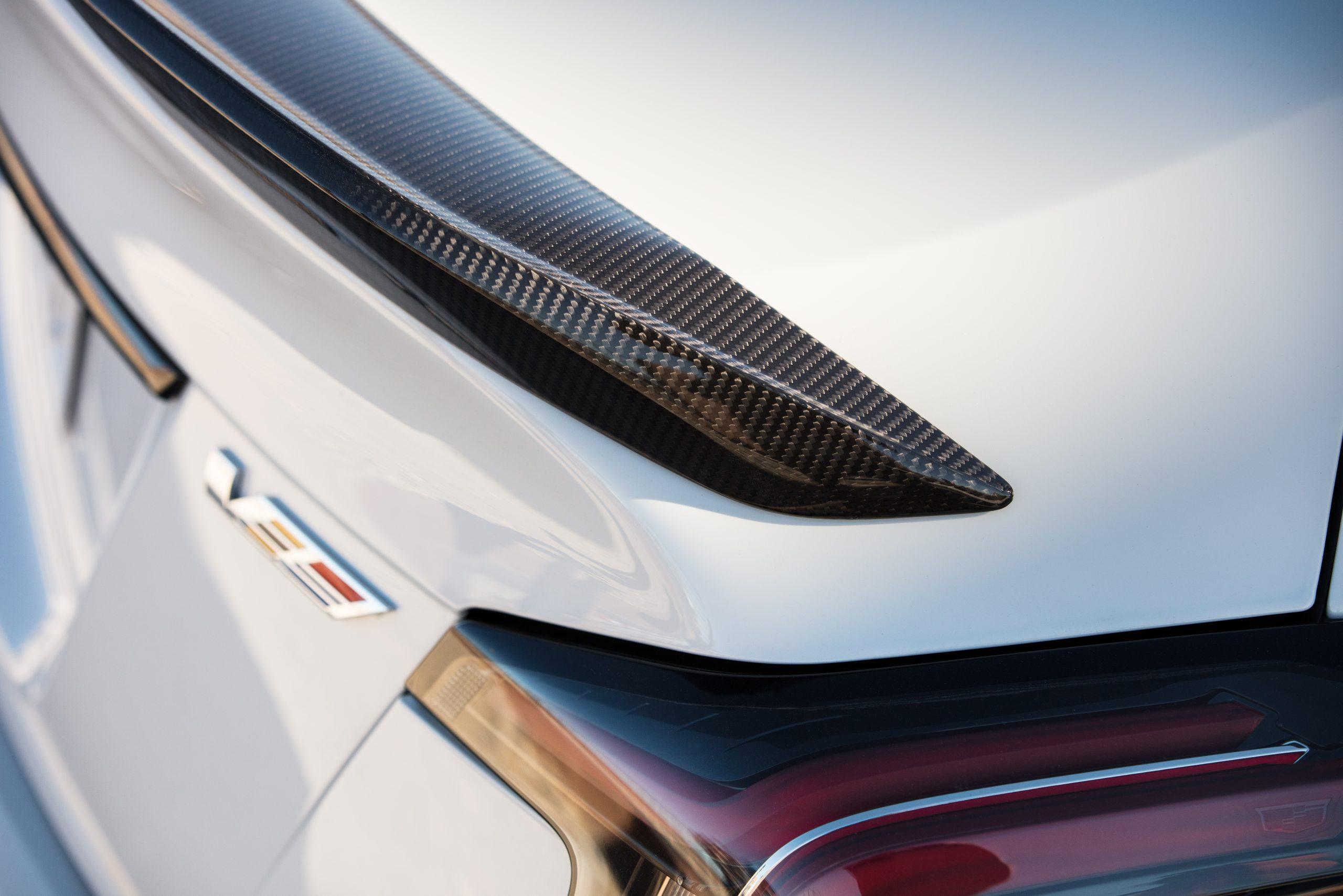 2022 Cadillac CT5-V Blackwing rear spoiler