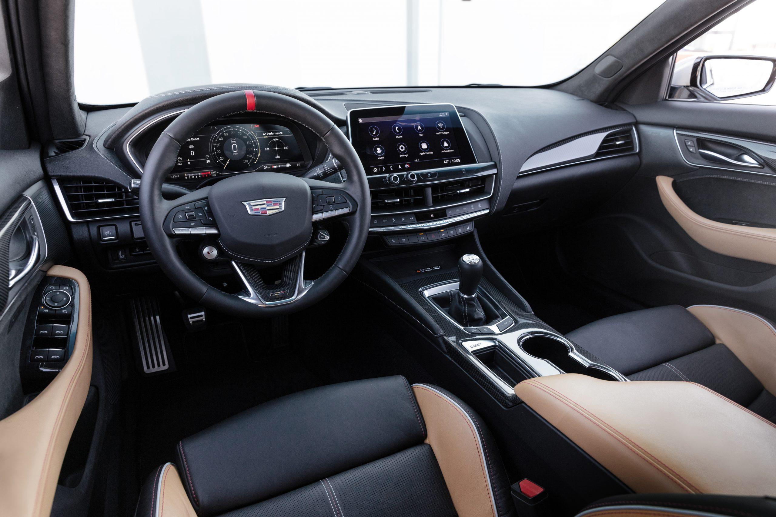 2022 Cadillac CT5-V Blackwing interior with manual