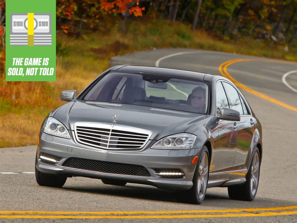 Mercedes-Benz S-Class S550 sedan front three-quarter game is sold column thumbnail