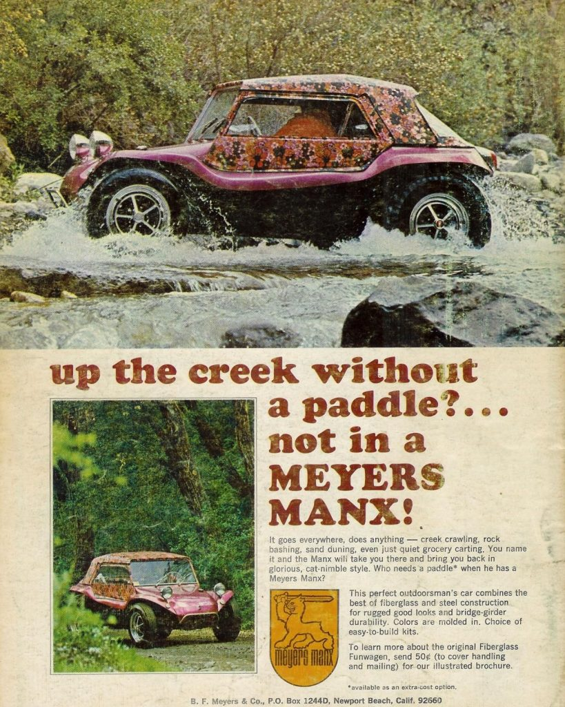 Meyers Manx Fiberglass Dune Buggy Vintage Ad